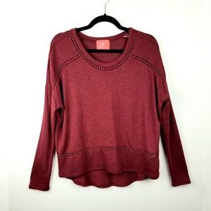 Chealsea & Violet Cozy Pullover Sweater Top Small